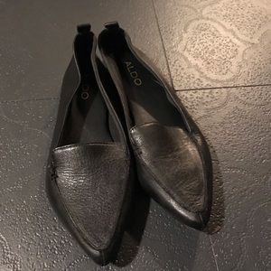ALDO Black Leather Loafer NWOT NWOB